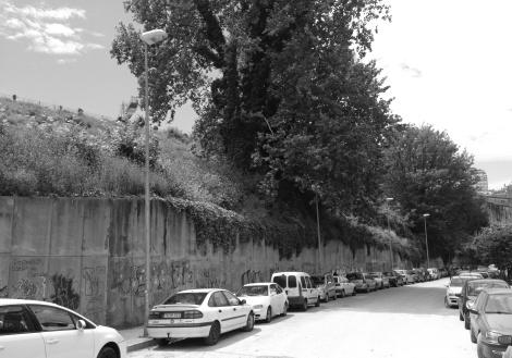 Calle Serafín Avendaño. Antiguo muro