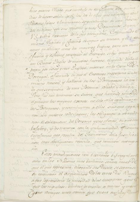 Carta del 4 de marzo de Buenaventura Marcó del Pont. Hoja segunda