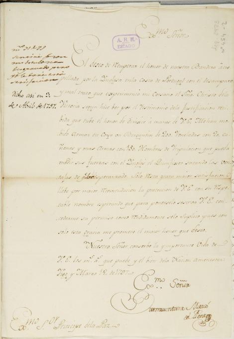 Carta del 18 de marzo de Buenaventura Marcó del Pont.