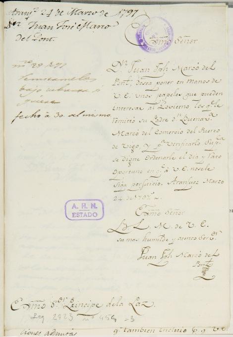 Carta del 24 de marzo de Juan Joseph Marcó del Pont.