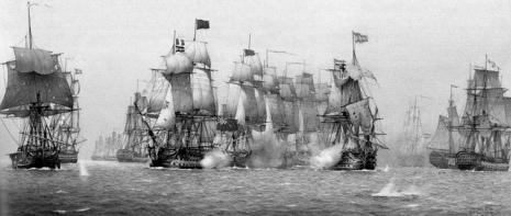 Batalla San Vicente en un grabado antiguo