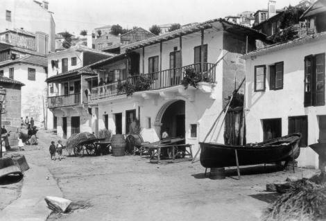 El Berbés con sus casas encaladas. Fotografía Pelayo Mas