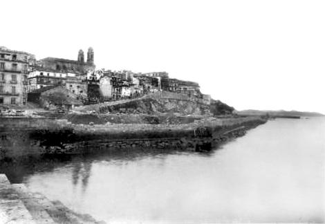 Una fotografía muy poco poco vista de las obras de Cánovas del Castillo. De la página Recuerda Vigo