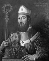 Pintura que representa al arzobispo Gelmírez