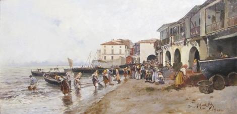 Óleo de Juan Martínez Abades de 1892 en el museo Carmen Thyssen de Málaga.