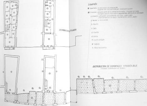 Plano con la distribución de una casa del Berbés de Alejandro Martínez García.
