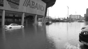 Inundaciones en Balaídos. Fotografía Faro de Vigo