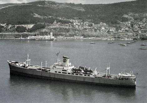 El antiguo barco Galicia de Pescanova.