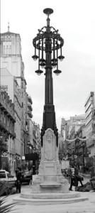 Nueva farola centenaria en Urzáiz. Fotografía Faro de Vigo