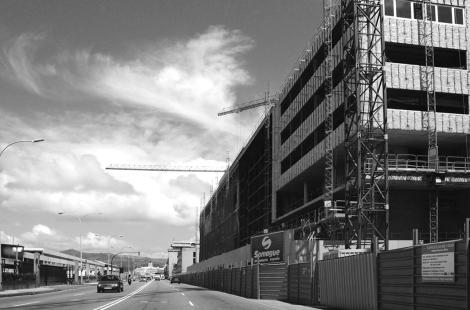 Obras de construcción del nuevo auditorio de la ciudad. Fotografía Eduardo Galovart