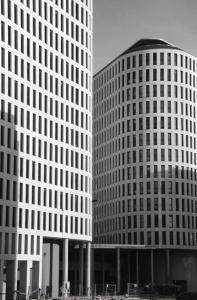 Edificios del PAU de Navia recién construidos. Fotografía Eduardo Galovart