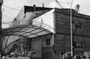 Los astilleros Barreras antes de la compra por PEMEX. Fotografía Eduardo Galovart