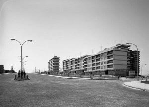 Primeros edificios en el nuevo polígono de Coia