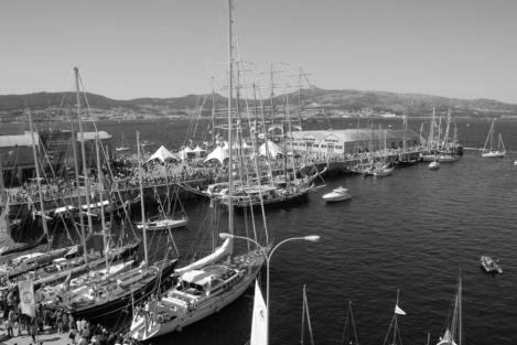 La dársena antes de la remodelación. 2009 regata Cutty Sark. Fotografía Eduardo Galovart