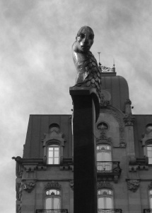 Escultura del Sireno en la Puerta del Sol. Fotografía Eduardo Galovart
