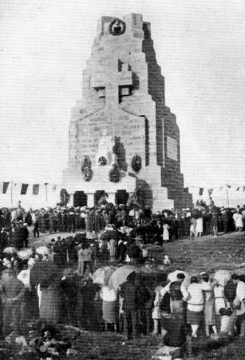 Inauguración del monumento en Monteferro a la Marina Mercante