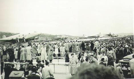 El aeropuerto de Peinador en sus primeros años