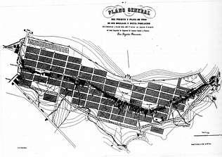 Plano del la Nueva Población en la actual Alameda.