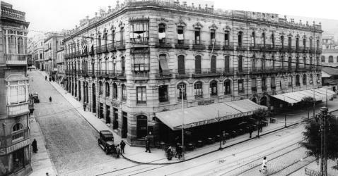 Nuevo Café Colón en el edificio Bárcena. Fotografía Pacheco