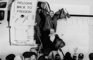 Liberación de los rehenes americanos de la embajada en Irán.