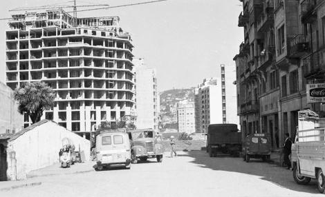 La calle Rosalía de Castro a principios de los años 90.