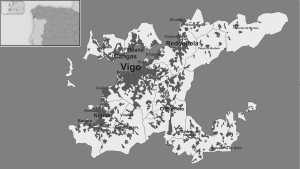 Area Metropolitana de Vigo. Fuente: Wikipedia.