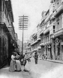 La calle del Príncipe a finales del siglo XIX.