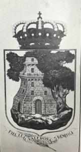 """Escudo oficial de Vigo desde 1926. El añadido de """"Siempre Benéfica"""" sería posterior a 1810. Fotografía de Vida Gallega. Ejemplar de 1926."""