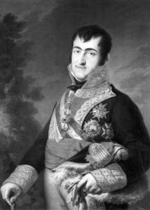 Fernando VII retratado por Vicente López.