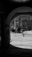 Arco de Quirós y plaza de la Princesa