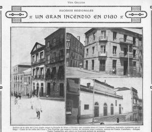 El teatro Tamberlick en la revista Vida Gallega en 1918.