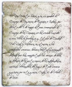 Orden del Consejo de Regencia de 1810.