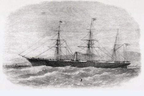 El vapor Magallanes en una ilustración de la época.